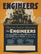 Vintage WW1 Recruiting Poster for Engineers